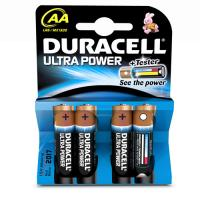 4 GENUINE DURACELL AA BATTERIES ULTRA POWER 1.5V ALKALINE BATTERY